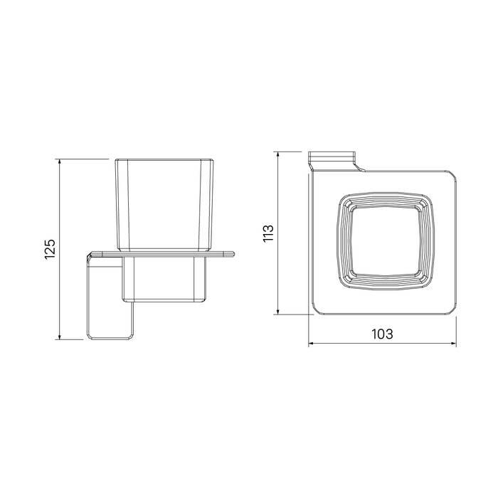 Фото Подстаканник одинарный матовое стекло, сплав металлов, IDDIS Slide SLIGMG1i45, графит 3
