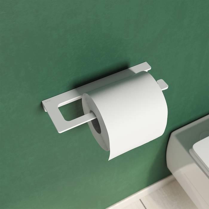 Фото Держатель для туалетной бумаги без крышки, сплав металлов, IDDIS Slide SLIWT00i43, белый матовый 1