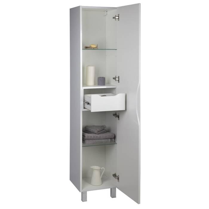 Фото Пенал для ванной комнаты, напольный, 40 см, IDDIS Custo CUS40W0i97, белый 4