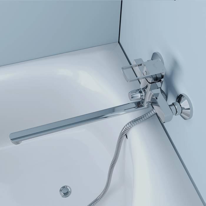 Фото Смеситель для ванны с длинным изливом, IDDIS Bild BILSB00i10WA 5