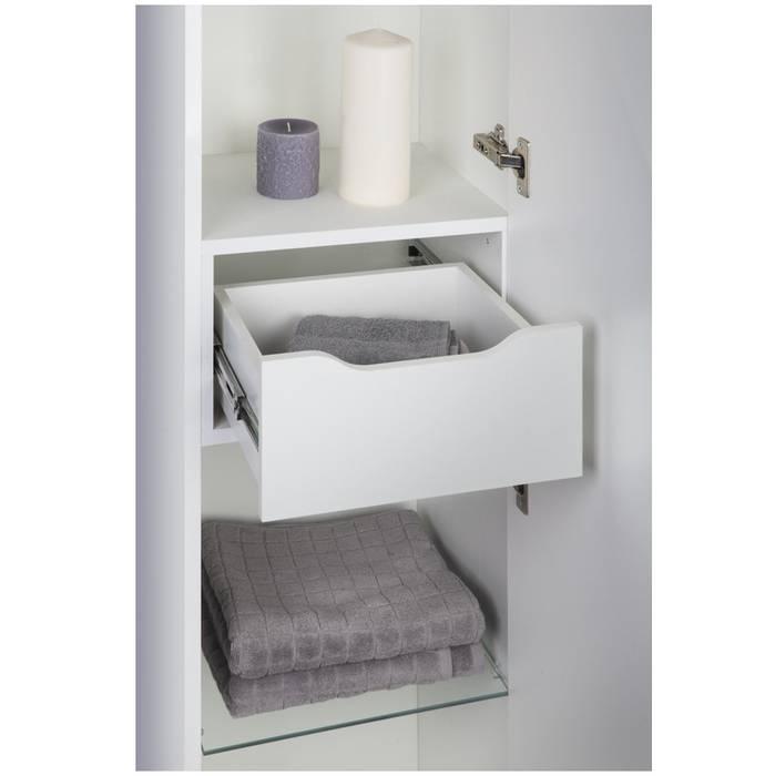 Фото Пенал для ванной комнаты, напольный, 40 см, IDDIS Custo CUS40W0i97, белый 5