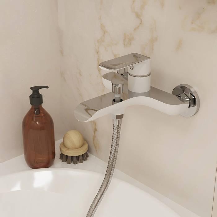 Фото Смеситель для ванны IDDIS Calipso CALSB00i02WA, белый/хром 1