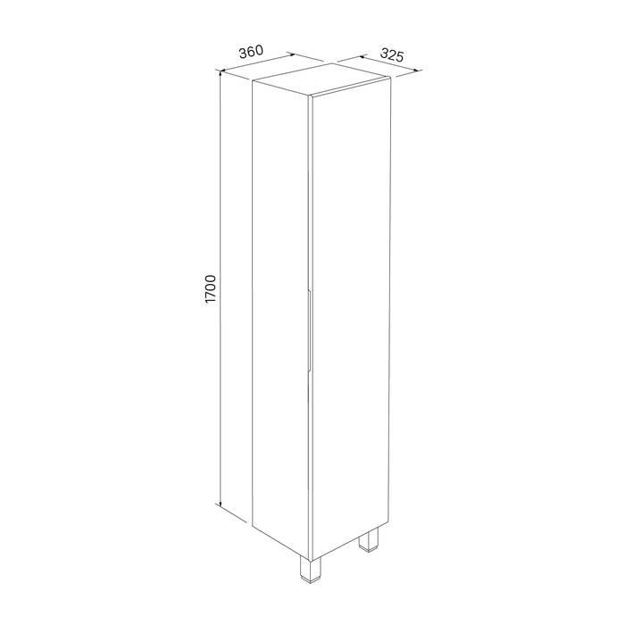Фото Пенал для ванной комнаты, напольный, 40 см, IDDIS Custo CUS40W0i97, белый 7