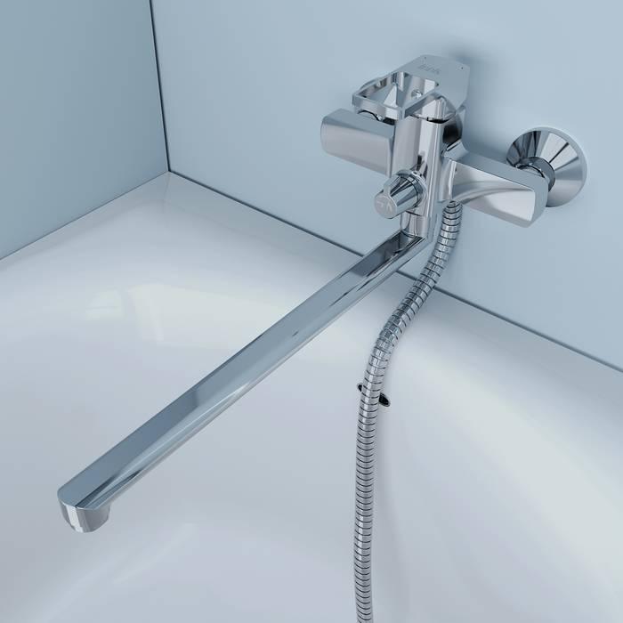 Фото Смеситель для ванны с длинным изливом, IDDIS Bild BILSB00i10WA 3