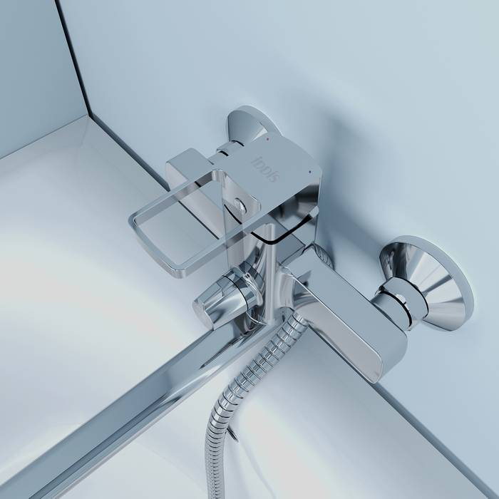 Фото Смеситель для ванны с длинным изливом, IDDIS Bild BILSB00i10WA 4