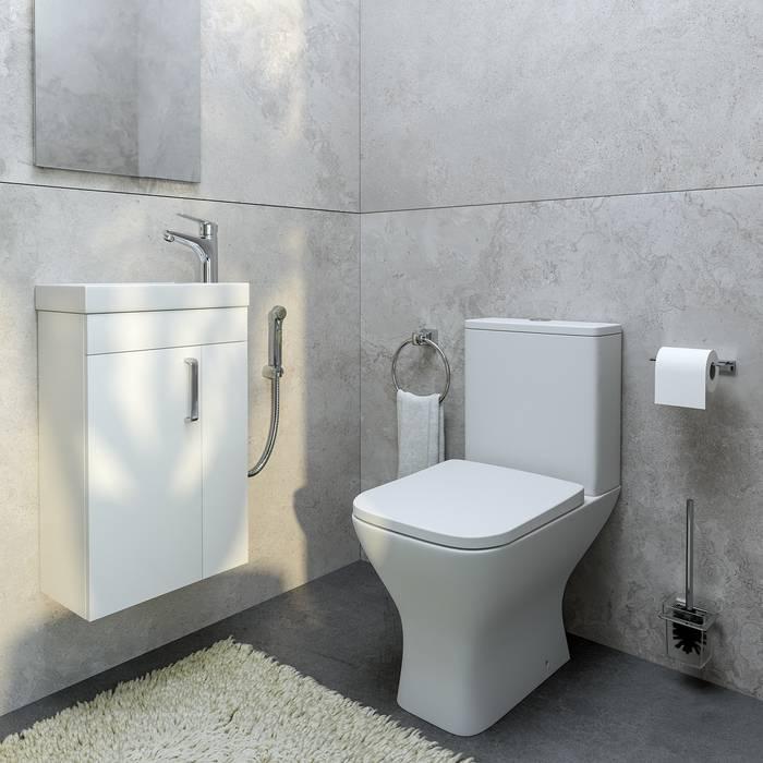 Фото Тумба с умывальником для ванной комнаты, подвесная, 40 см, IDDIS Torr TOR40W1i95K, белая 3