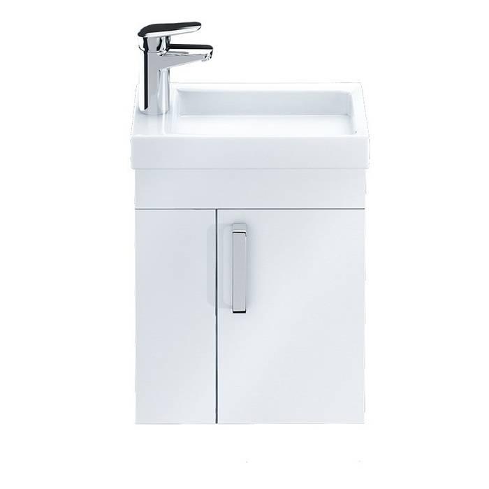 Фото Тумба с умывальником для ванной комнаты, подвесная, 40 см, IDDIS Torr TOR40W1i95K, белая 1