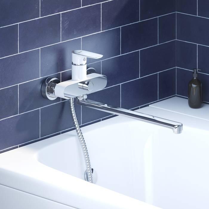 Фото Смеситель для ванны с длинным изливом, IDDIS Cloud CLOSBL2i10WA 1