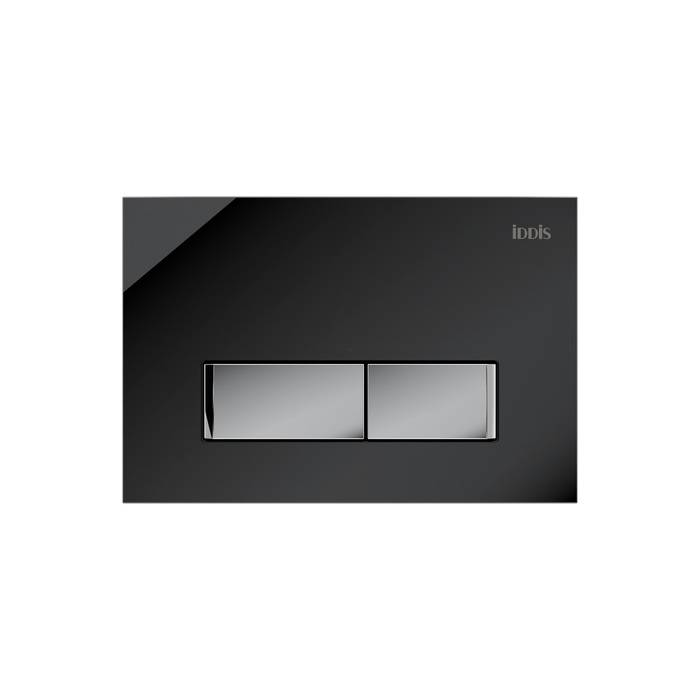 Фото Клавиша смыва универсальная 010 IDDIS Uniglass UNG10GBi77, черное стекло 0