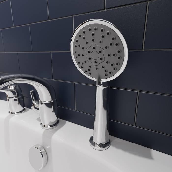 Фото Смеситель на борт ванны на 3 отверстия с керамическим дивертором, IDDIS Oldie OLDSB30i07, хром 2