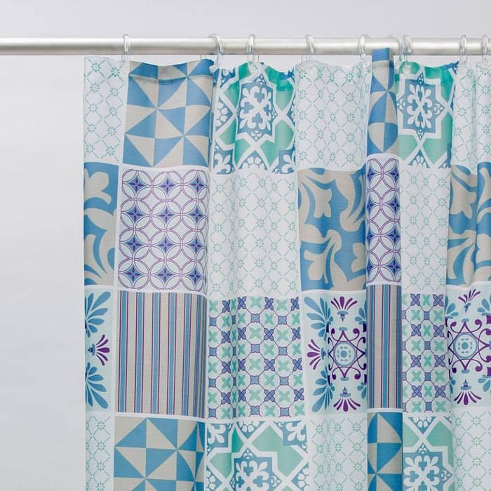 Фото Штора для ванной комнаты, 180x180 см полиэстер, IDDIS Basic B03P118i11 2