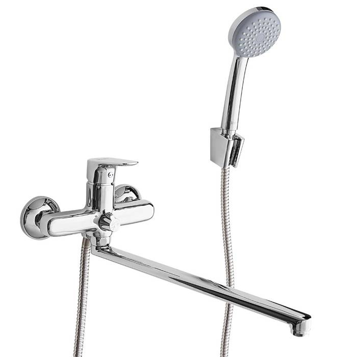 Фото Смеситель для ванны с длинным изливом с керамическим дивертором IDDIS Zodiac ZODSBL2i10 0