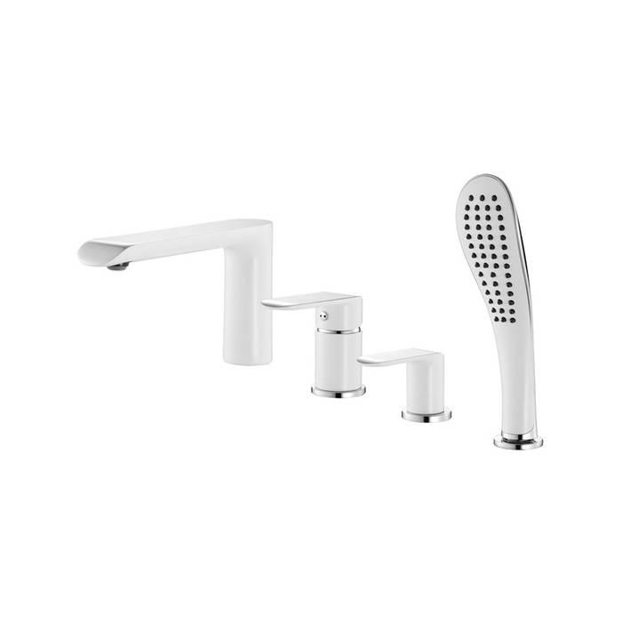 Фото Смеситель для ванны на 4 отверстия, IDDIS Calipso CALSB42i07, белый/хром 0