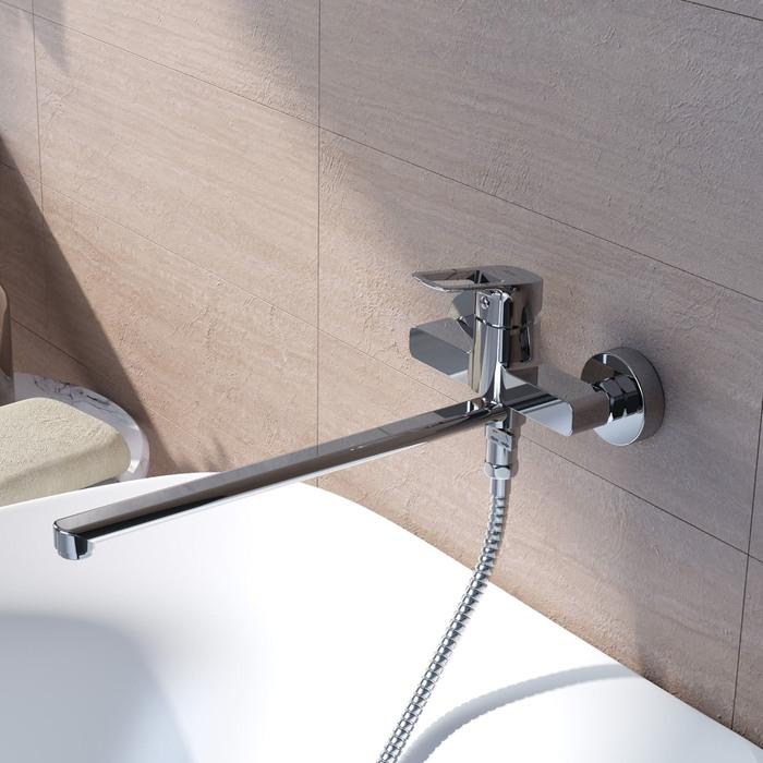 Фото Смеситель для ванны с длинным изливом, Spin, IDDIS, SPISBL2i10WA 1