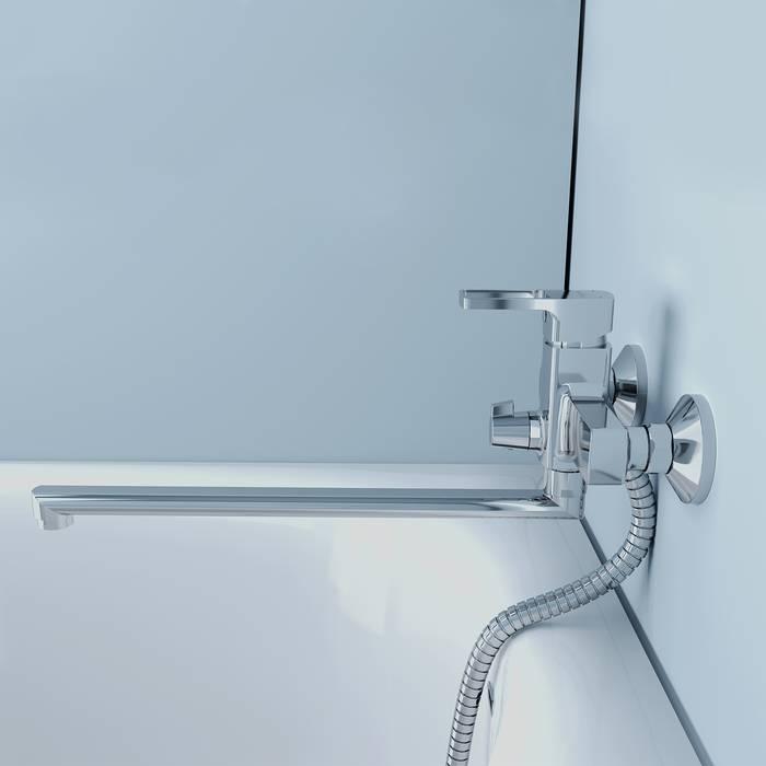 Фото Смеситель для ванны с длинным изливом, IDDIS Bild BILSB00i10WA 2