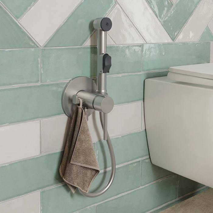 Фото Встраиваемый смеситель с гигиеническим душем, IDDIS Spring 003BNR0i08, сатин 1